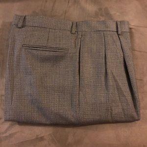 Jos A Bank Brown & Tan Check Dress Pants 35x30